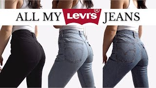 LEVI'S JEANS REVIEW & TRY ON 👖501, Wedgie, Skinny, Tapered and more!