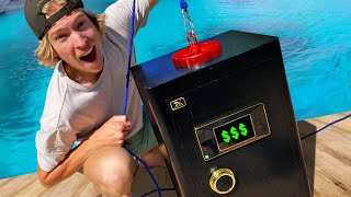 GIANT Magnet Fishing for MYSTERY SAFES! *$$$*