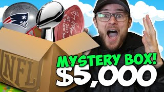 Opening the Most CRAZY $5,000 Custom NFL Mystery Box!! (Insane Items!!)