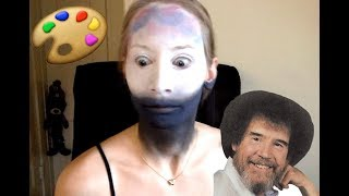 I Try A Bob Ross Tutorial ON MY FACE