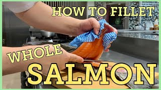 How to fillet salmon/Chapter 3@Tokyo Sushi Academy English Course / 東京すしアカデミー英語コース