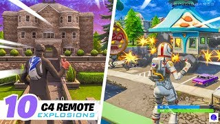Fortnite Top 10 Remote Explosives Plays on Epic Locations (Battle Royale)