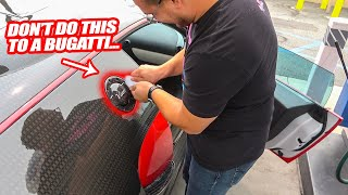 THE 2 MILLION DOLLAR MANSORY BUGATTI VEYRON ISN'T BUILT AS WELL AS YOU THINK... *GAS CAP STUCK?!*