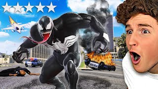 Playing As VENOM In GTA 5.. (RAMPAGE)