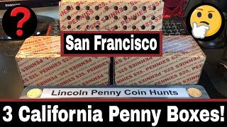 San Francisco Mint Pennies - Roll Hunting California Penny Boxes!