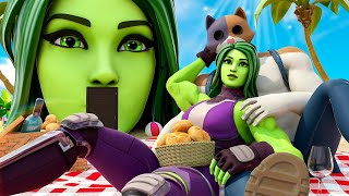 SHE-HULK BUYS her FIRST HOUSE.... ( Fortnite Short )