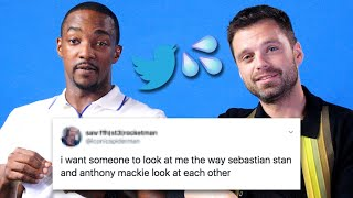 Sebastian Stan And Anthony Mackie Read Thirst Tweets