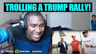 Trolling Trump Supporters at a Trump Rally! | NELK REACTION!!