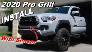 TRD Pro Grill Install on the 2020 Tacoma Off Road (with Sensor)