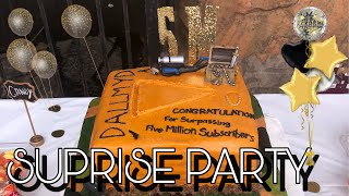I Threw Jake a Surprise 5 Million Party ( WE MADE THE CAKE ! )