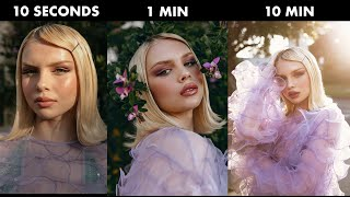 When you have 10 seconds to do a photoshoot | 10 Seconds VS 1 Min VS 10 Min CHALLENGE