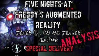 FNAF AR Teaser 1 , 2 And Trailer Reaction! + Analysis Of Hidden Easter Eggs