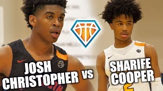 Sharife Cooper vs Josh Christopher!! | BATTLE OF TOP 2020 GUARDS at EYBL Indy