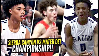 Sierra Canyon vs Mater Dei CRAZY CHAMPIONSHIP GAME!!! BJ Boston & Ziaire Williams vs Devin Askew!!