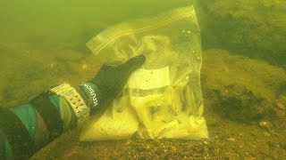 Possible Human Remains Found Underwater! (Inside Plastic Bag)