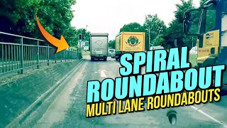 Spiral Roundabout - Multi Lane roundabouts UK