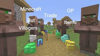 My Reaction To Minecraft But Villagers Trade OP Items(Reaction Video)(Very Funny)