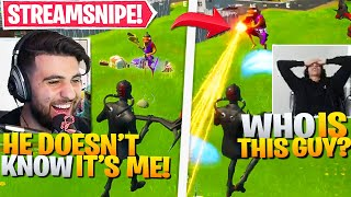 I SECRETLY Streamsniped Small Streamers Until They RAGE QUIT! (Fortnite Battle Royale)