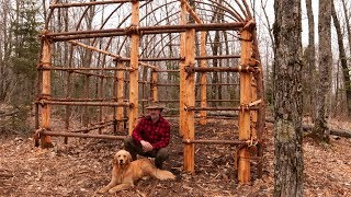 Building a Native American Longhouse with Hand Tools | The Best Natural Bushcraft Shelter