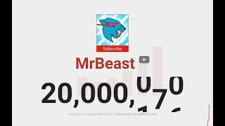 YouTube Compilations - MrBeast  - Subscriber Milestones