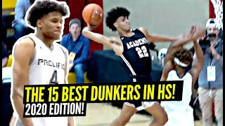 The Top 15 Dunkers In High School! 2020 Edition! Jalen Green, Jimma Gatwech & More!
