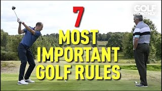 7 Most Important Rules Of Golf I Golf Monthly