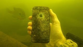 iPhone, iPod and Selfie Stick Found Underwater! (Scuba Diving)