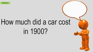 How Much Did A Car Cost In 1900?