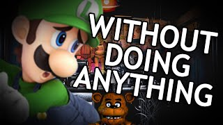 Ultimate Custom Night- Luigi wins by doing absolutely nothing (FNAF)