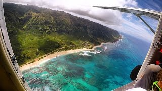 Skydiving out of Small Plane at 15,000 Feet! - Hawaii (Worlds Most Beautiful Drop Zone) | DALLMYD