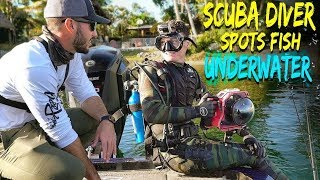 Scuba Diving to Help Professional Fisherman Locate Fish! (Human Fish Finder)