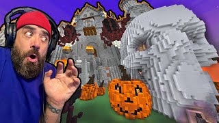 This GIANT Minecraft Castle is HAUNTED!!