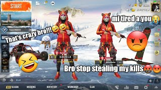 My Teammate Start Cursing Me For Kills..🤣🤣 (Duo♊) PUBG Mobile.