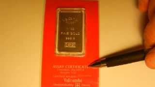 HOW TO SPOT A FAKE 1 OZ GOLD BAR, what to look for