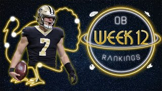 2020 Fantasy Football - Week 12 Quarterback Rankings