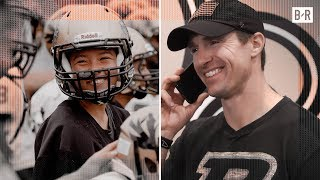 Drew Brees FaceTimes Female QB Who Broke Team's 4-Year Losing Streak (BReal)