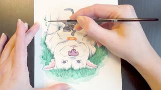 """Kitbull"" Watercolour Speed Paint (Pixar Fanart)"