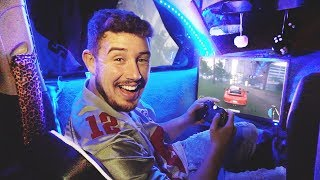 I Spent the Night in a Gaming Car with My Girlfriend & It Was Actually Awesome! (BEST GAMING SETUP)