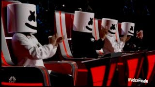 Marshmello & Bastille Perform 'Happier' on The Voice!