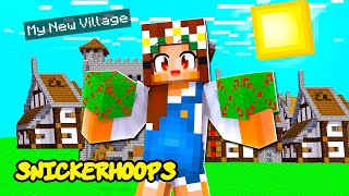BUILDING MY MINECRAFT VILLAGE with only ONE BLOCK | Minecraft Games to Play | Snicker Hoops