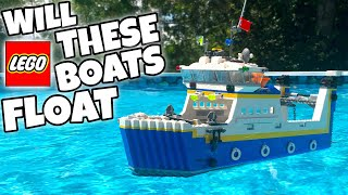 DO THESE LEGO BOATS FLOAT? #4