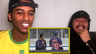CHANCE THE RAPPER SNL HOCKEY REPORTER | REACTION