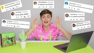 ANSWERING YOUR QUESTIONS!! (Get to know me)
