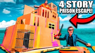 4 STORY Floating BOX FORT Prison ESCAPE Prank! 50FT TALL SCARY 😱📦