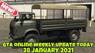 GTA Online Weekly Update Today (28 January 2021) New Vehicle Double Money & Offers! VETIR !