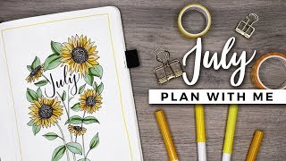 PLAN WITH ME | July 2018 Bullet Journal Setup