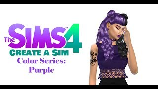The Sims 4: Create A Sim | Color Series: Purple