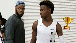 Bronny James FIRST CHAMPIONSHIP in Los Angeles Makes Dad Lebron James Happy