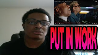 Jacquees & Chris Brown - Put In Work (Official Music Video) REACTION!