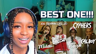 BEST CYPHER YET | Fivio Foreign, Calboy, 24kGoldn and Mulatto's 2020 XXL Freshman Cypher | Reaction